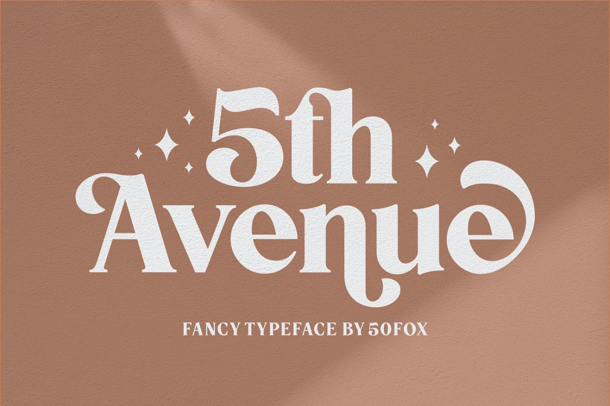 serif fonts 5th avenue - UI Freebies