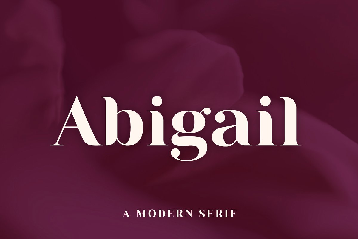 serif fonts abigail - UI Freebies