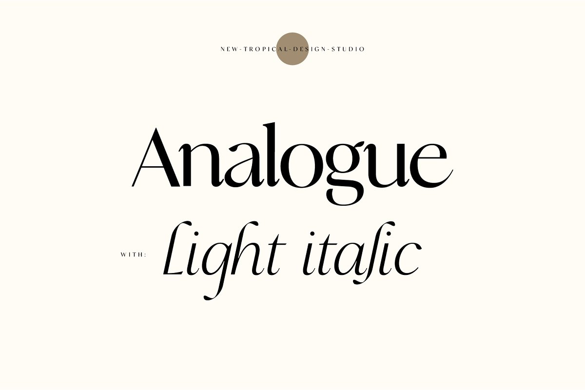 serif fonts analogue - UI Freebies