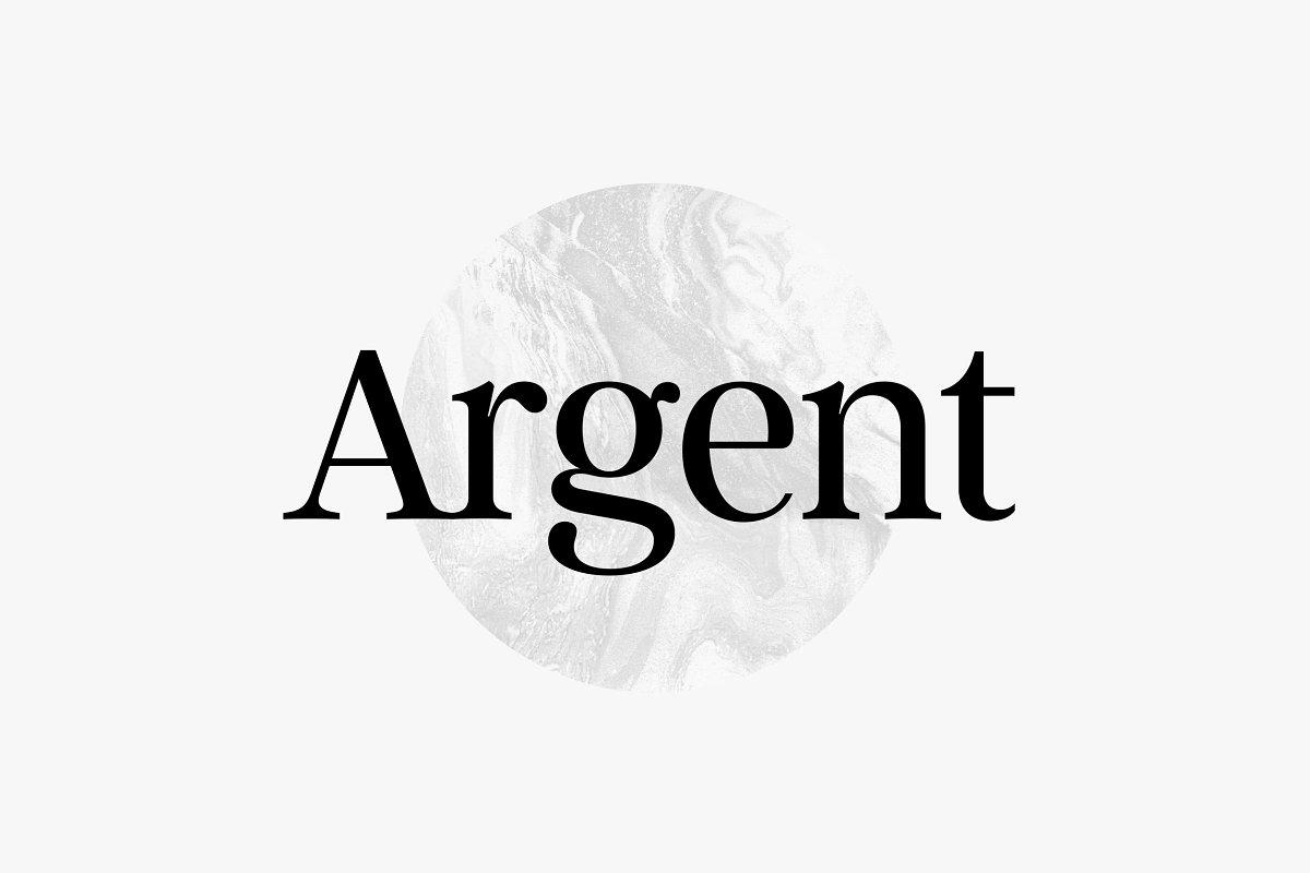 serif fonts argent - UI Freebies