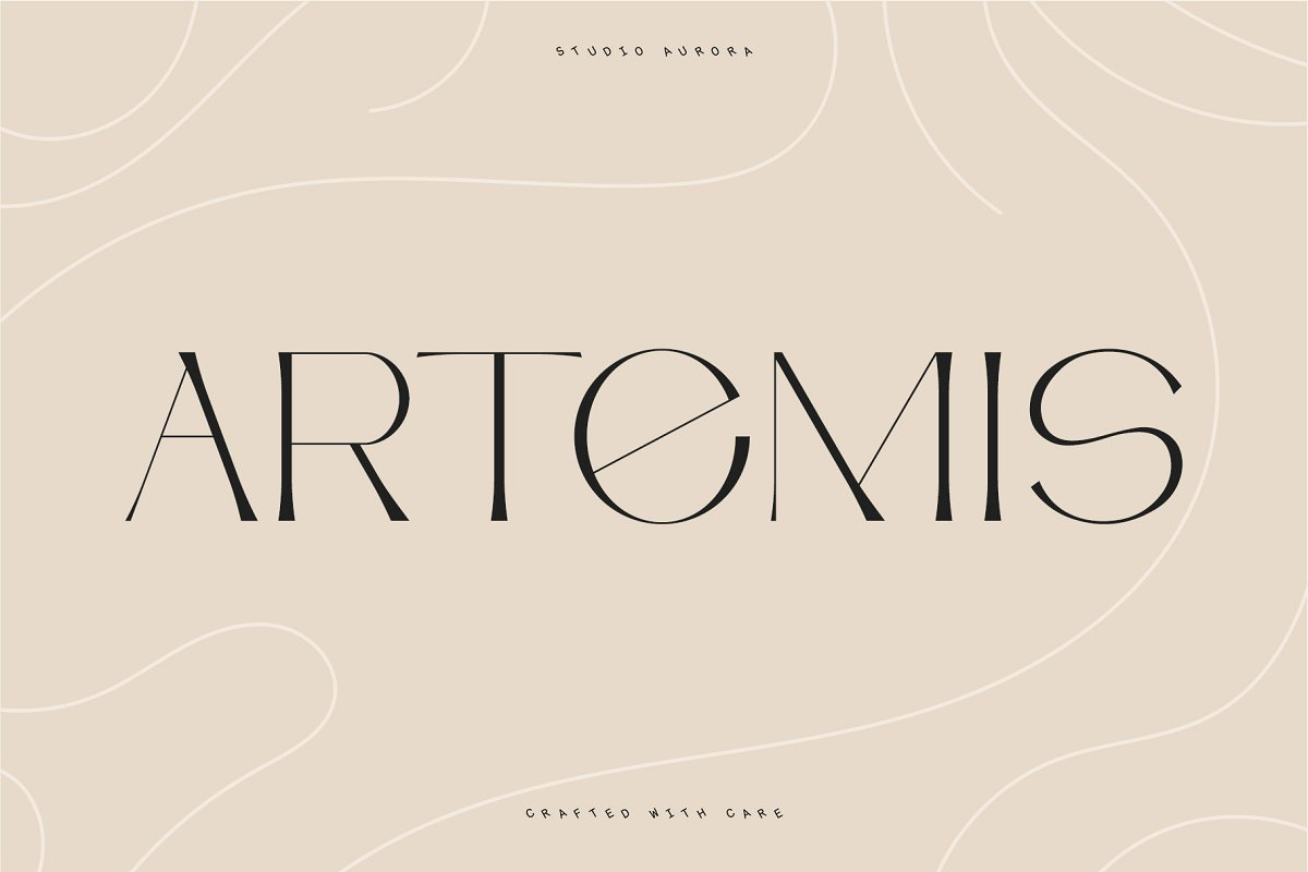 serif fonts artemis - UI Freebies