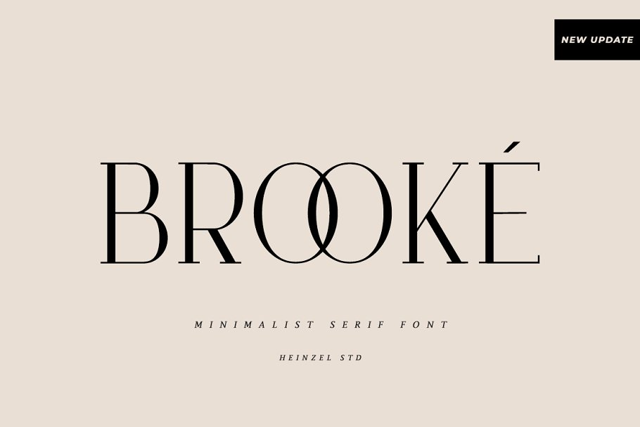 serif fonts brooke - UI Freebies