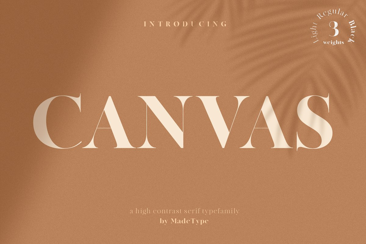 serif fonts canvas - UI Freebies