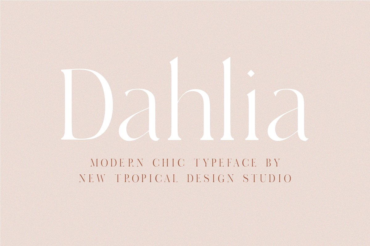 serif fonts dahlia - UI Freebies