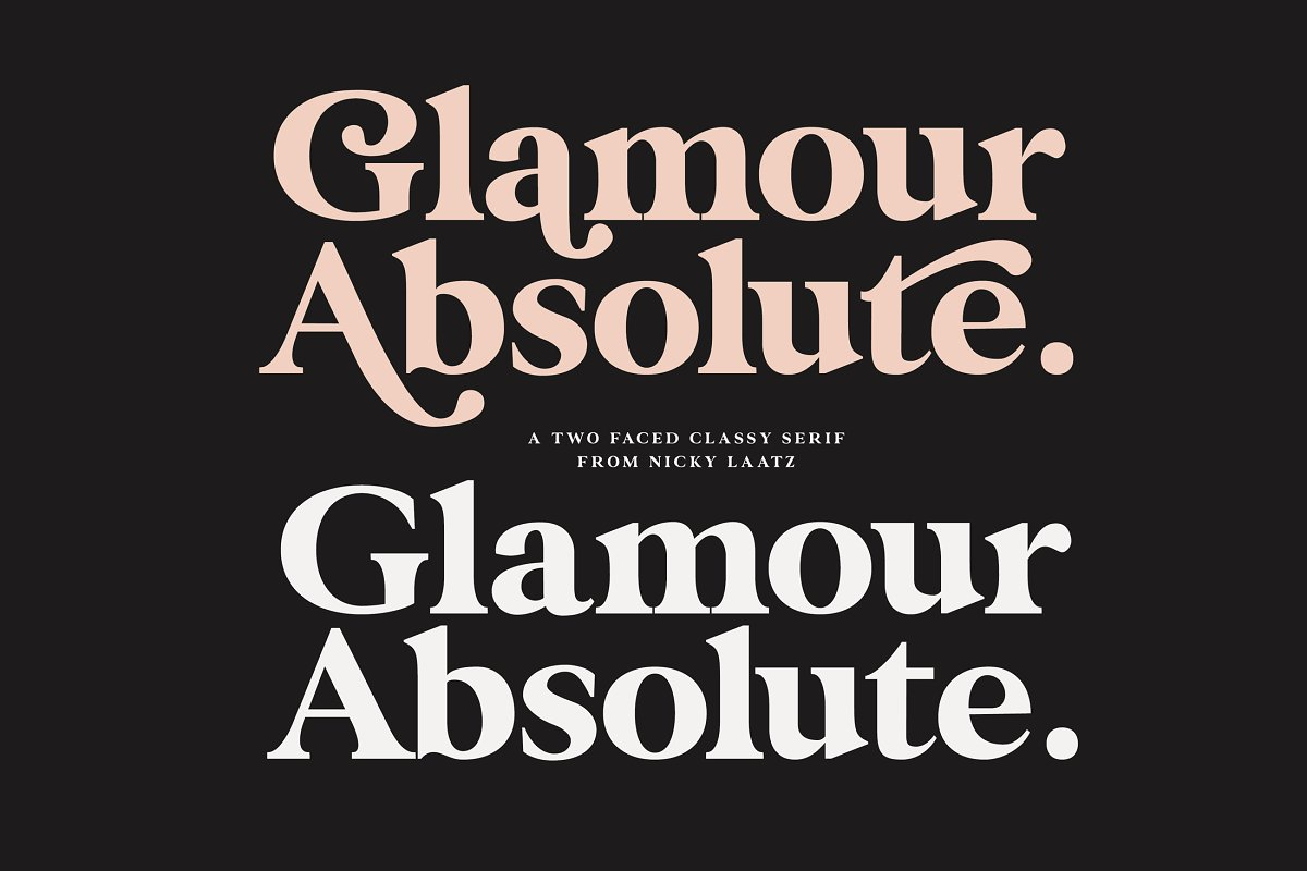 serif fonts glamour absolute - UI Freebies