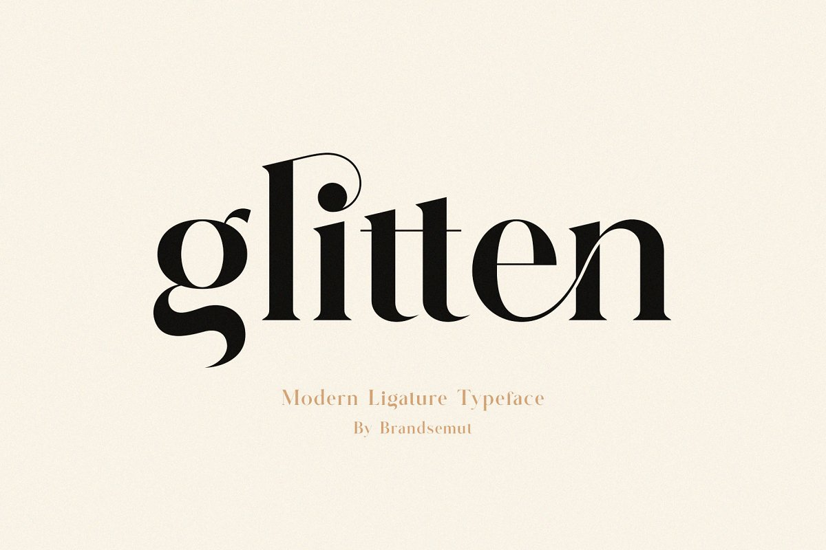 serif fonts glitten - UI Freebies