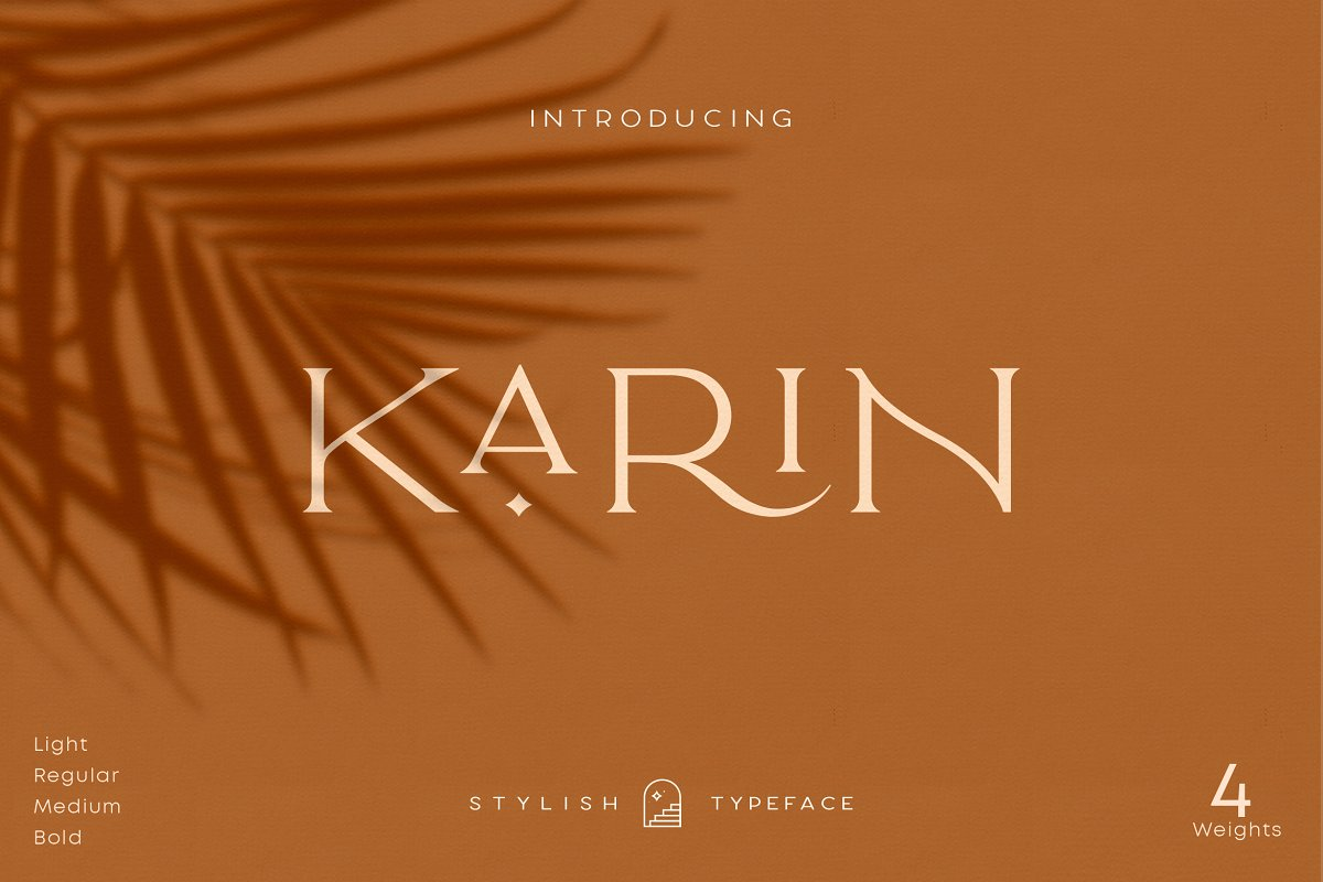 serif fonts karin - UI Freebies