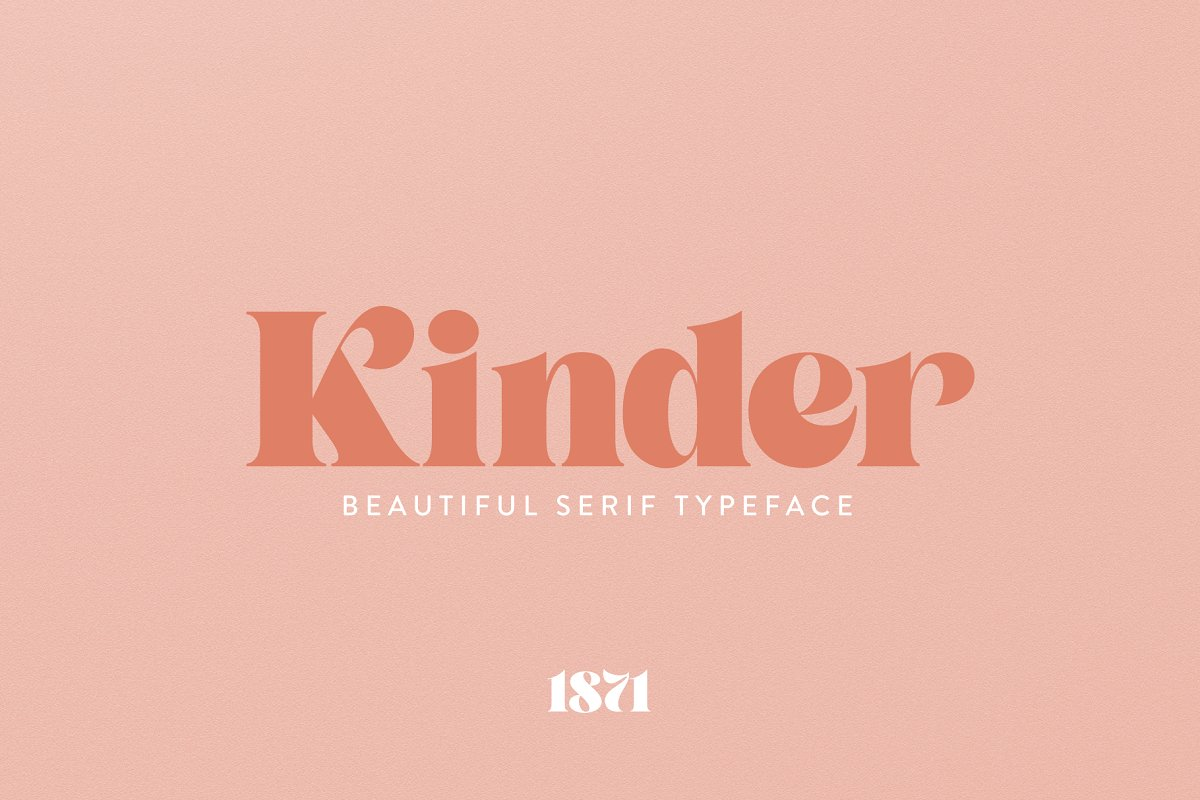 serif fonts kinder - UI Freebies