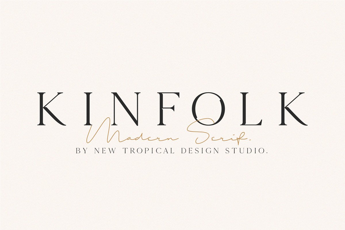 serif fonts kinfolk - UI Freebies
