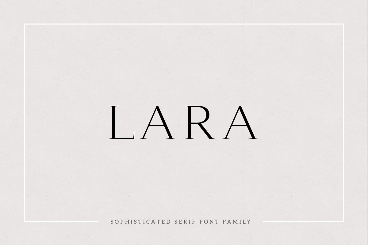 serif fonts lara - UI Freebies