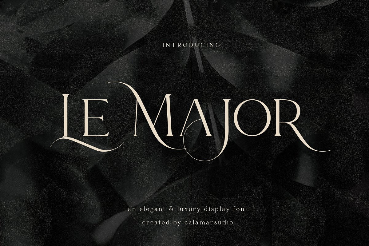 serif fonts le major - UI Freebies