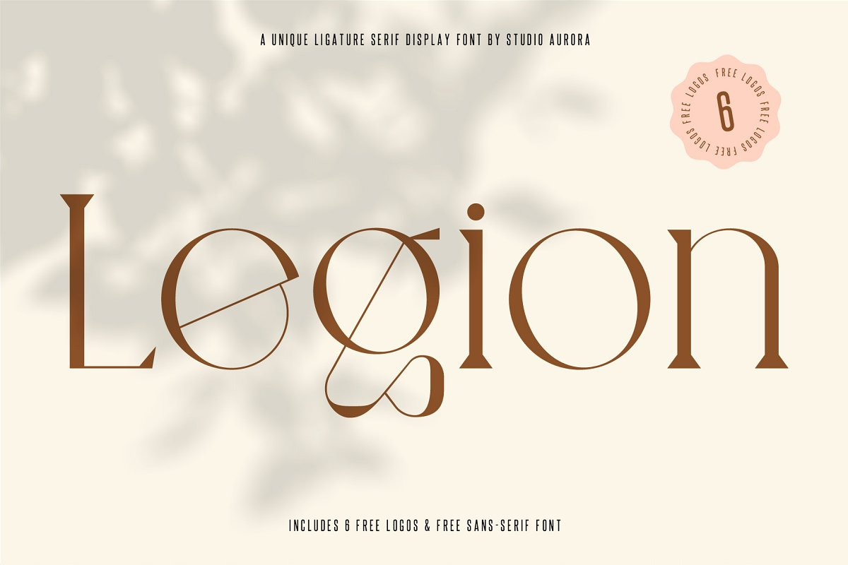 serif fonts legion - UI Freebies