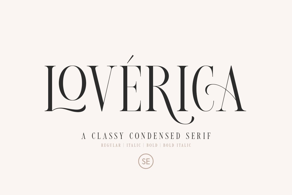serif fonts loverica - UI Freebies