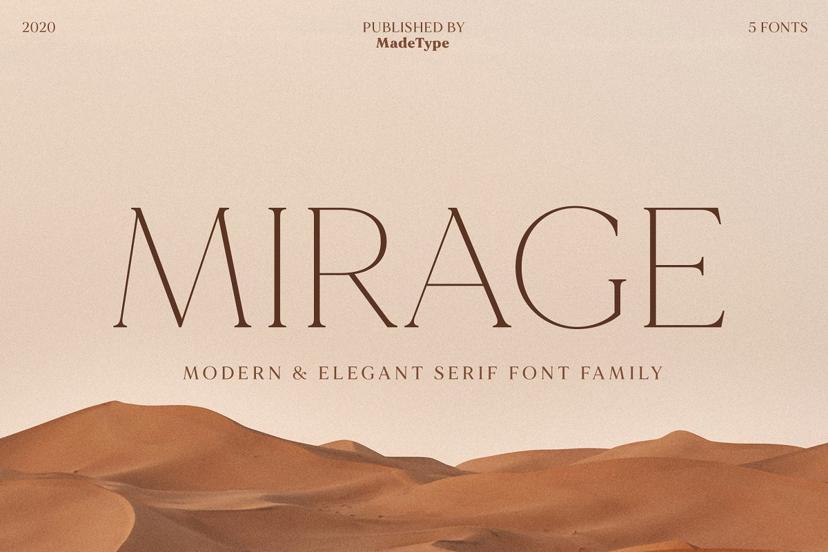 serif fonts made mirage - UI Freebies