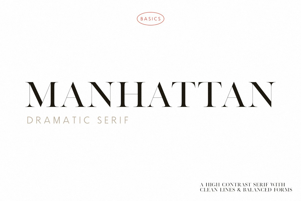 serif fonts manhattan - UI Freebies