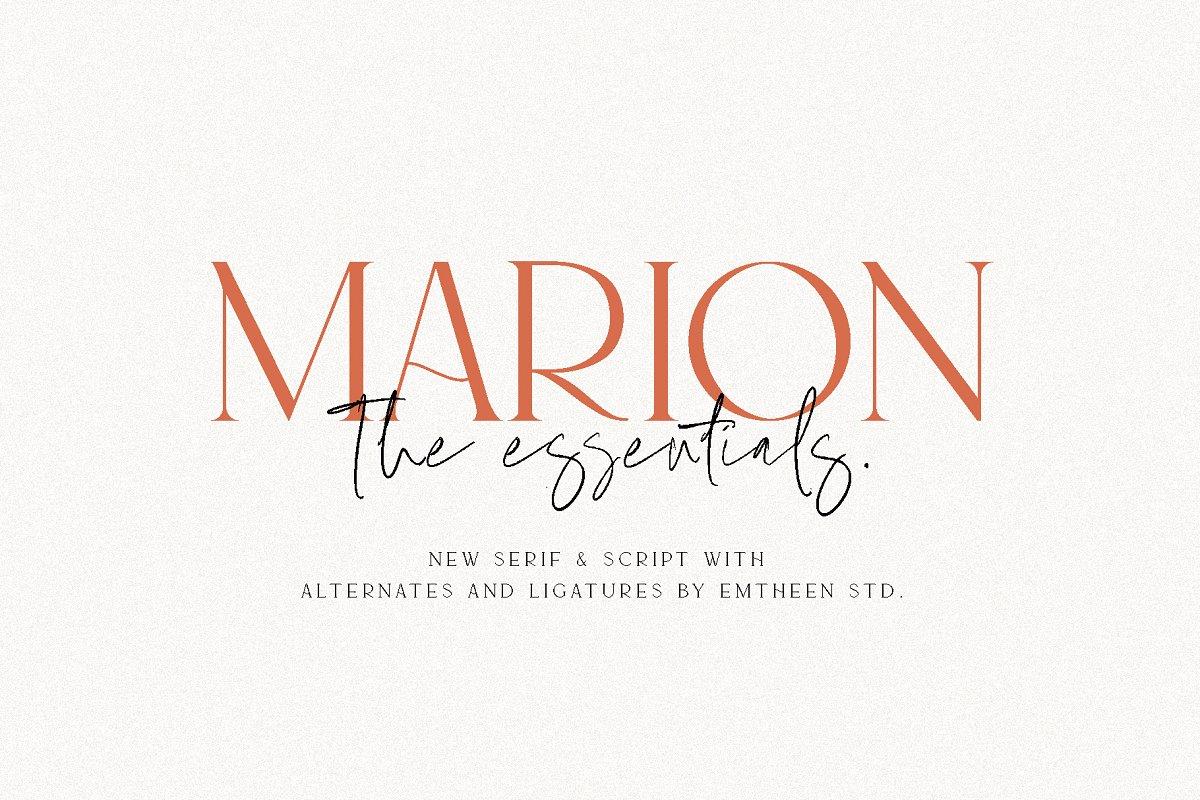 serif fonts marion - UI Freebies