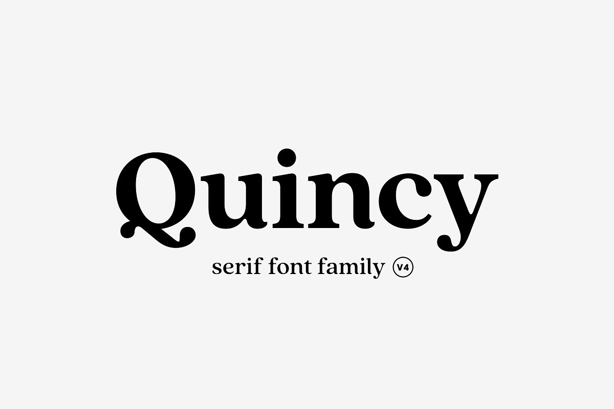 serif fonts quincy - UI Freebies