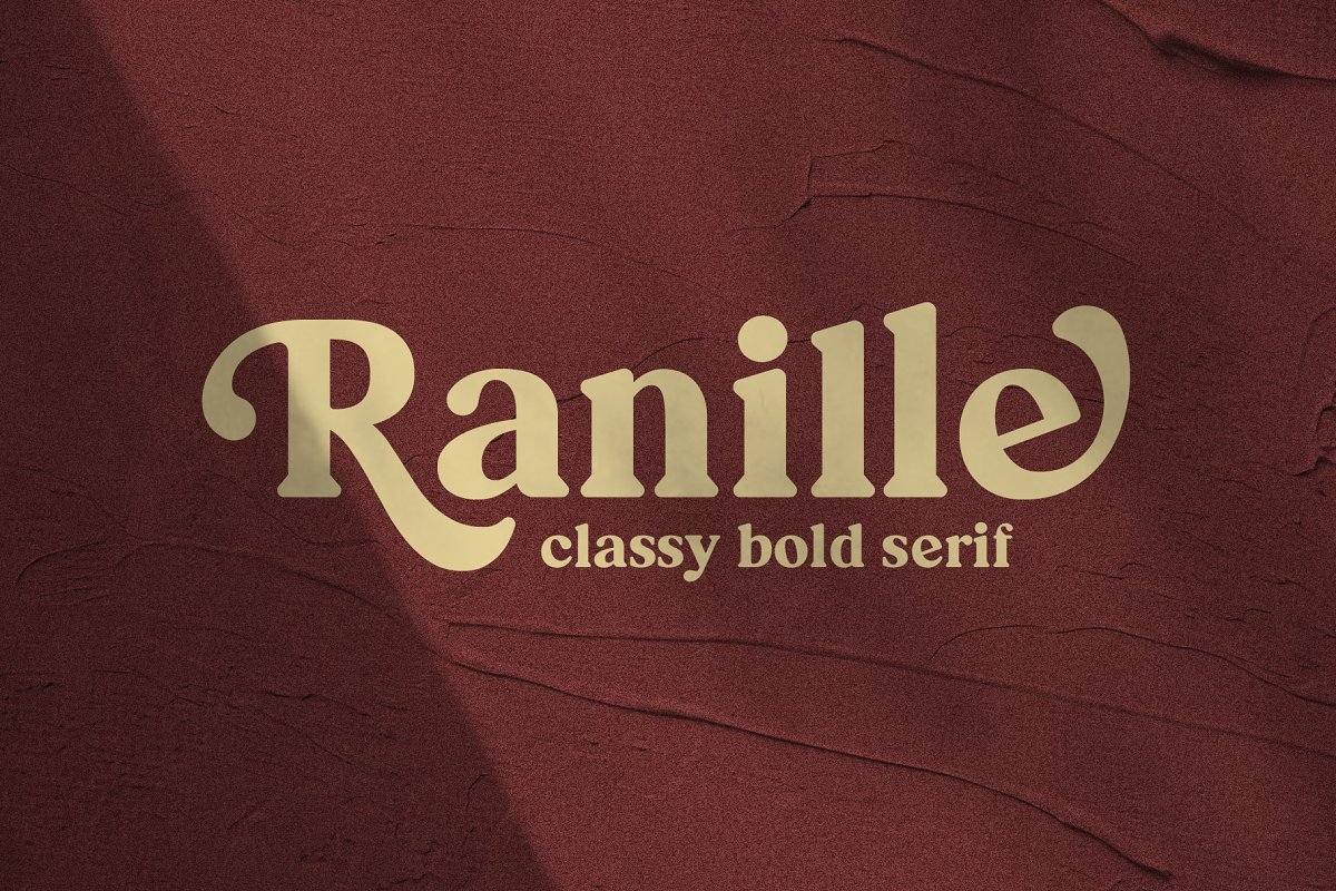 serif fonts ranille - UI Freebies