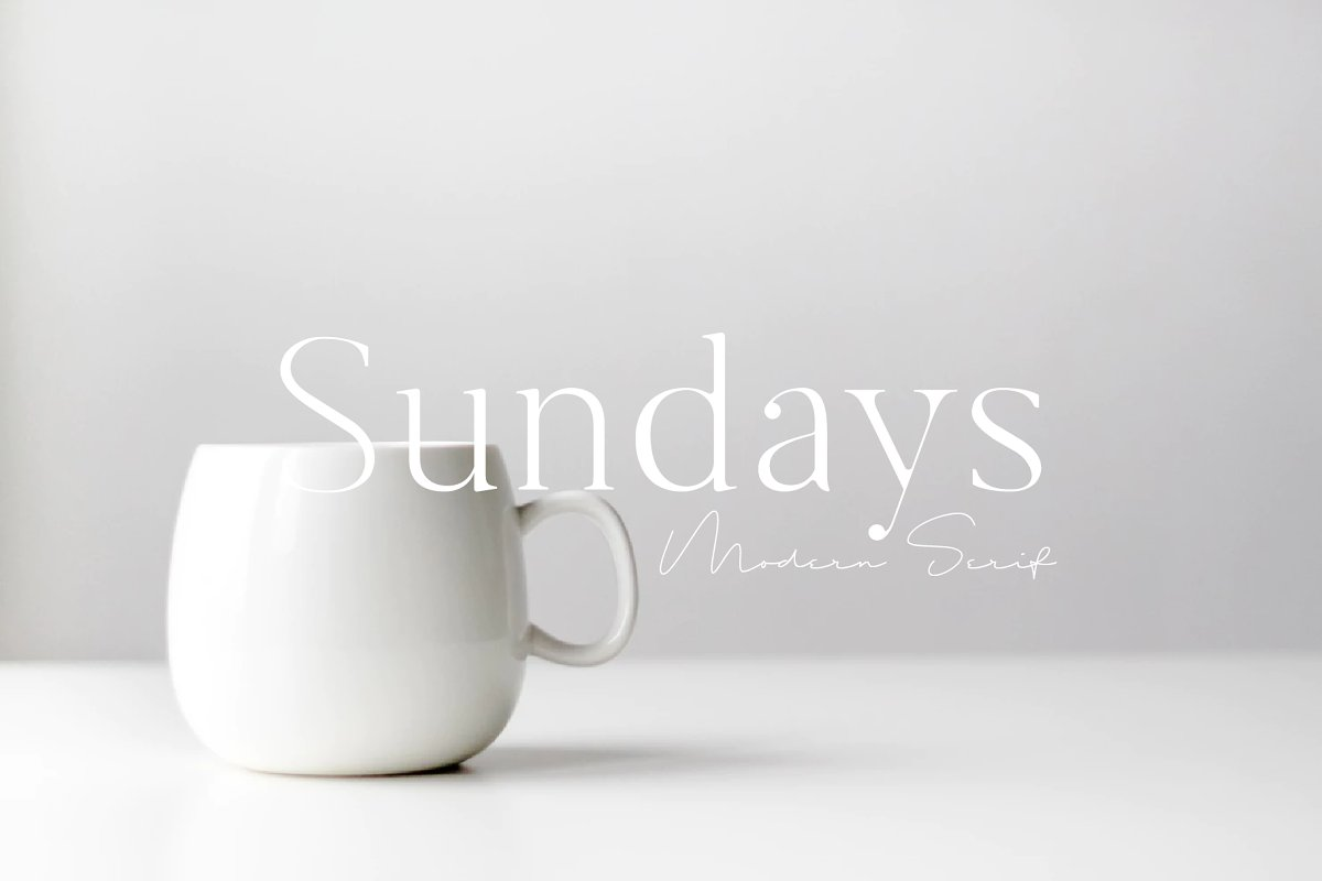 serif fonts sundays - UI Freebies