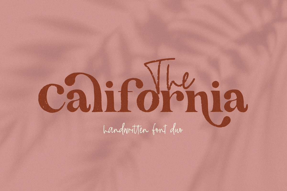 serif fonts the california - UI Freebies