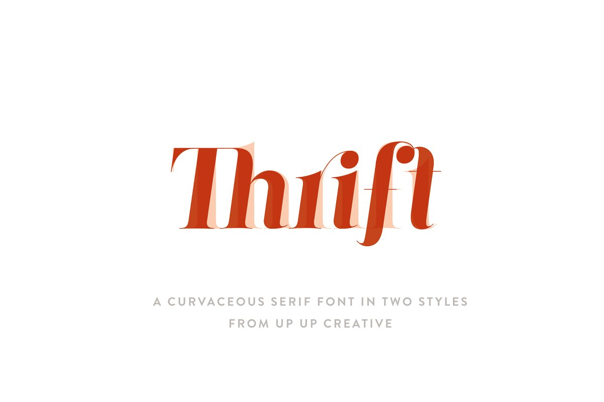 serif fonts thrift - UI Freebies