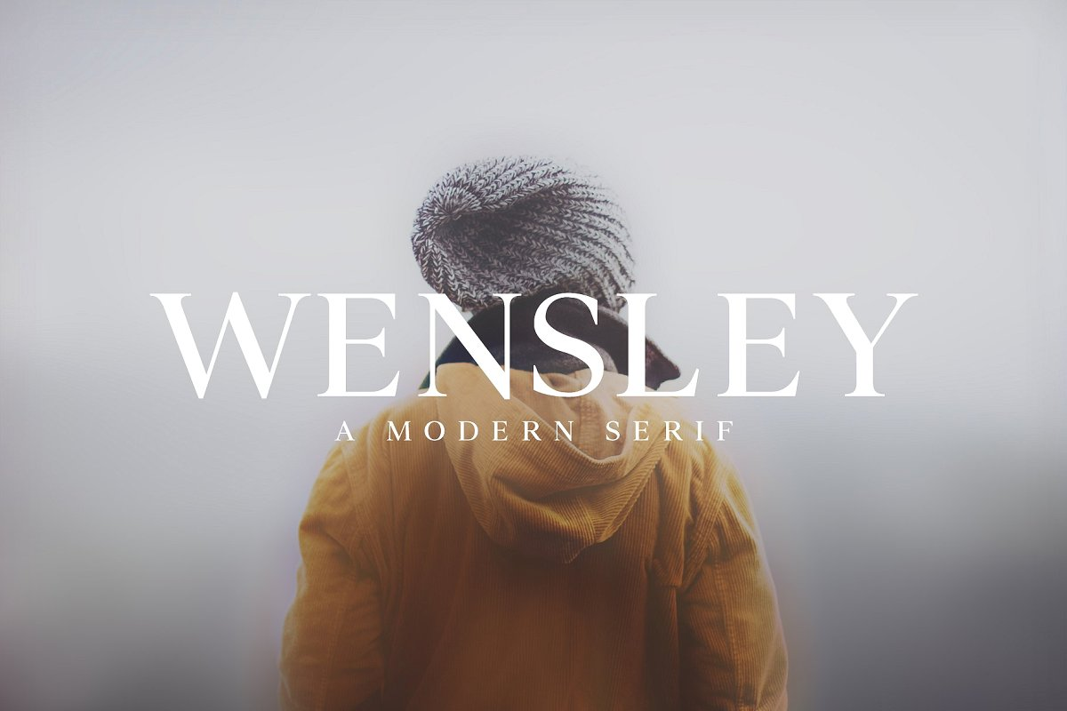 serif fonts wensley - UI Freebies