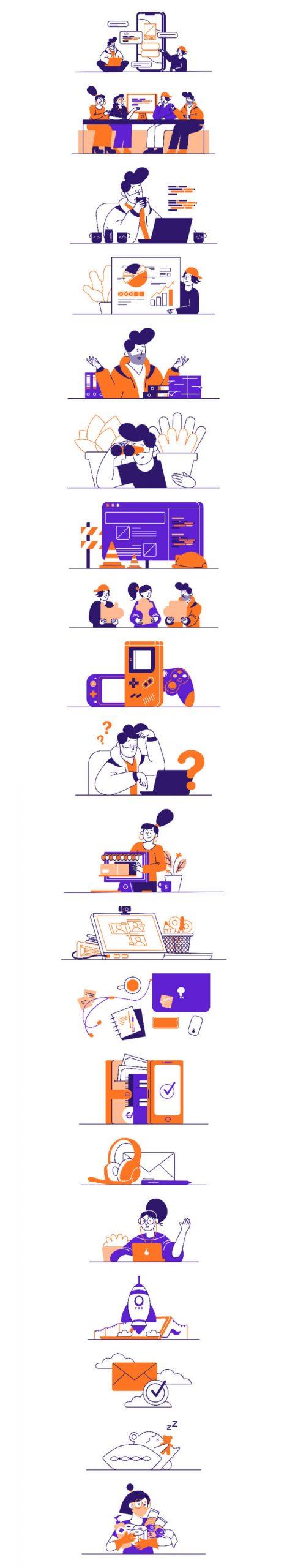 Whoooa Illustrations Free - UI Freebies