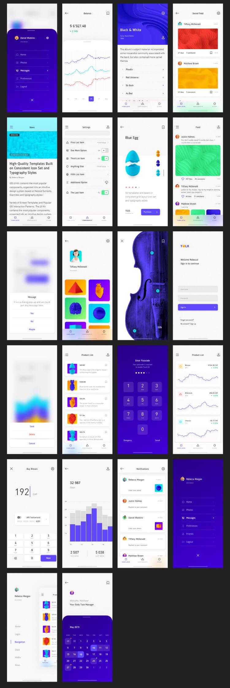 Yolk iOS UI Kit Free - UI Freebies