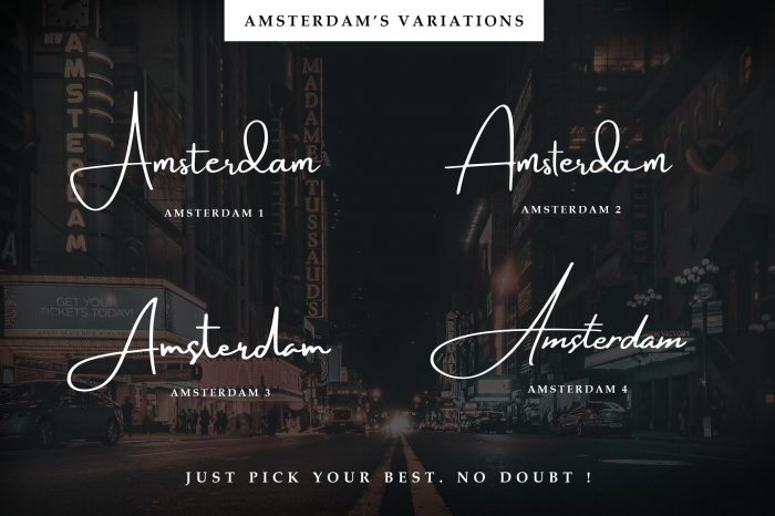 amsterdam font collection 4 - UI Freebies