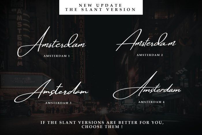 amsterdam font collection 5 - UI Freebies