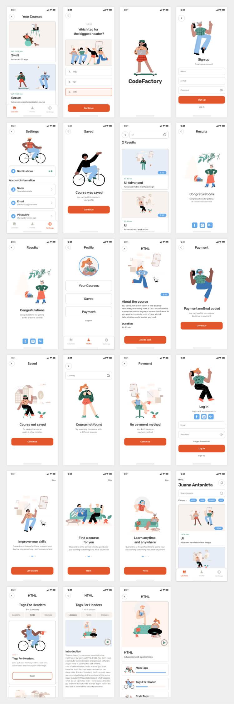 course edtech mobile app 2 - UI Freebies