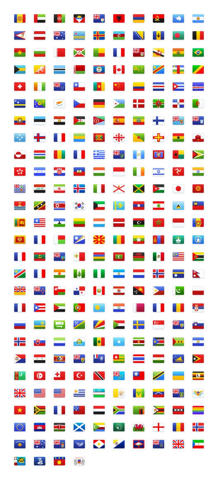 Flag Icon Illustration Free - UI Freebies