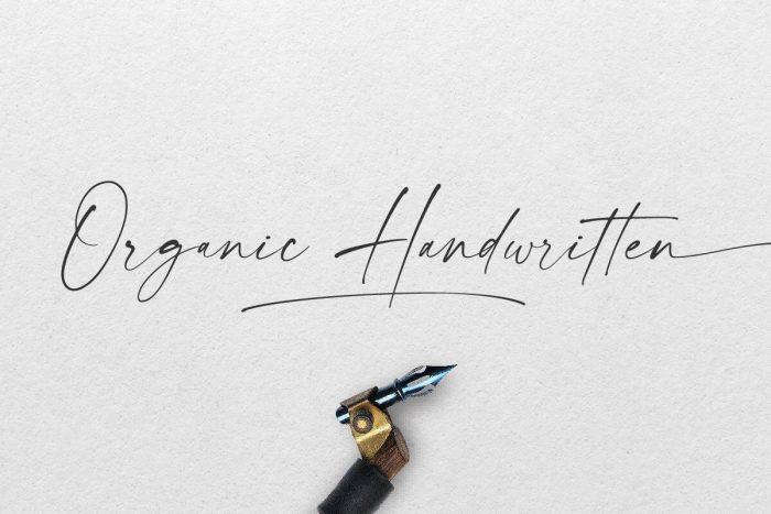modernline handwritten font 2 - UI Freebies