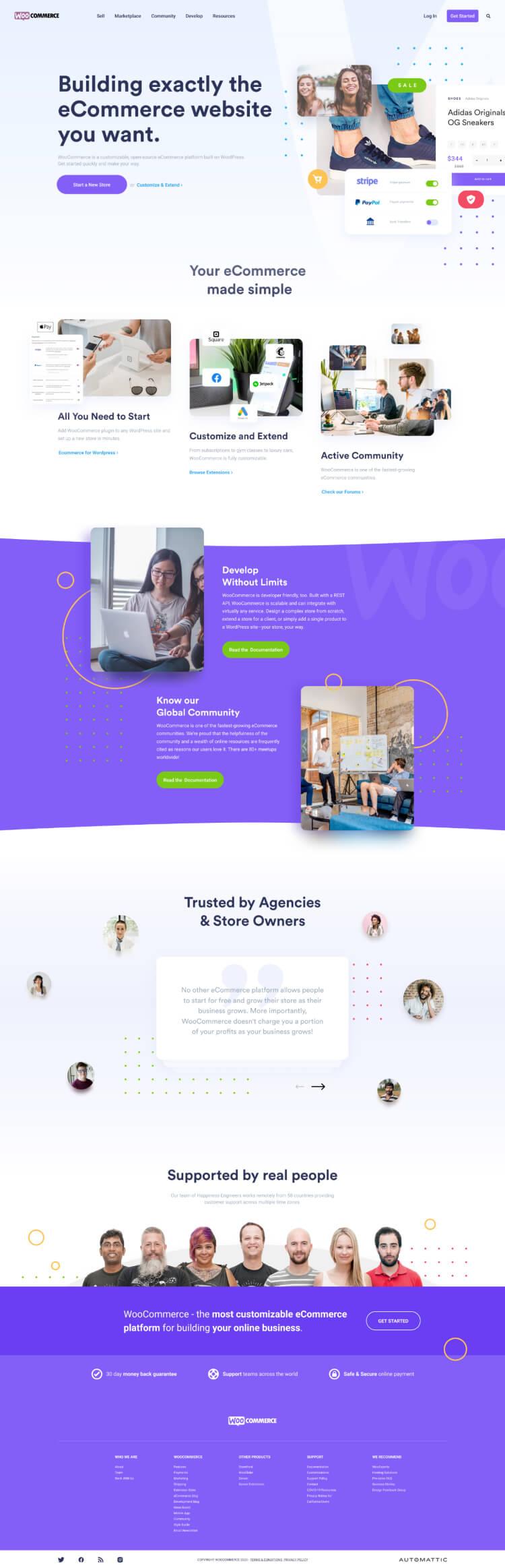 woocommerce landing page redesign free 3 - UI Freebies