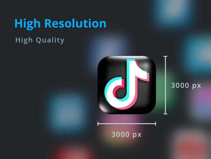 3d social media icon pack free 5 - UI Freebies