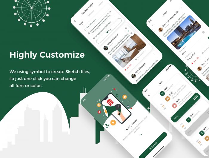 apart smart home app ui kit 3 - UI Freebies