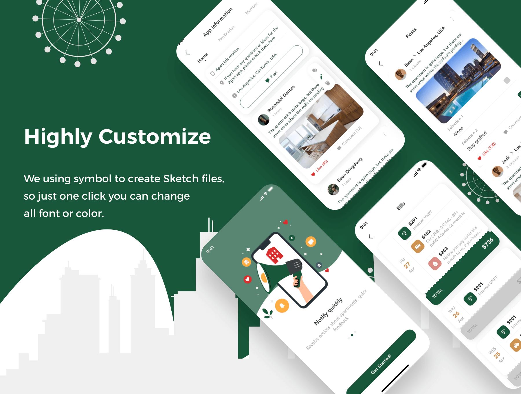 Smart Home App UI Kit Free - UI Freebies