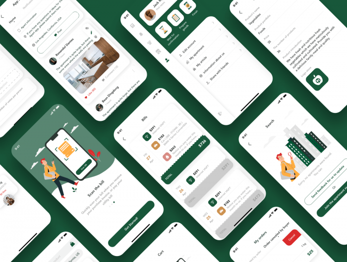 apart smart home app ui kit 4 - UI Freebies