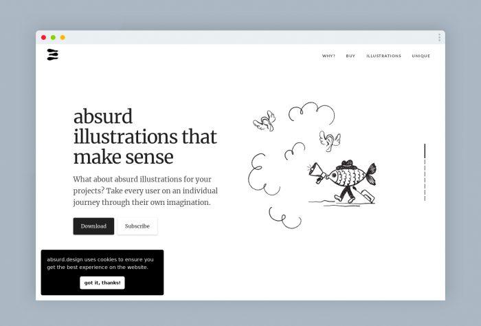 free illustration aburde - UI Freebies