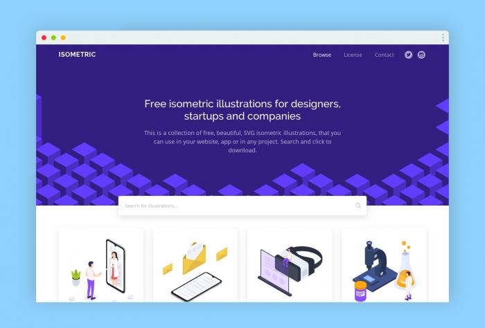 free illustration iso - UI Freebies
