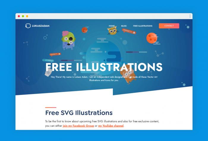 free illustration luka - UI Freebies