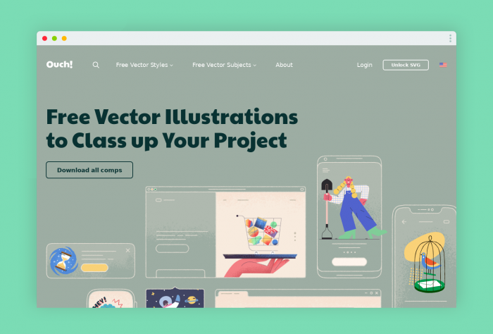 free illustration ouch - UI Freebies