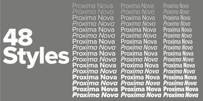 proxima nova font 3 - UI Freebies