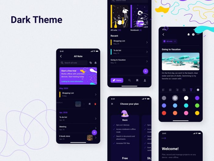 topnote note talking app design free 2 - UI Freebies