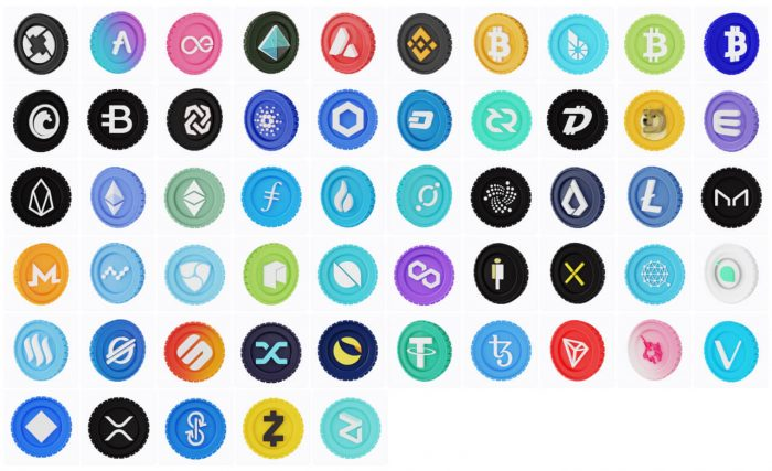Cryptocurrency 3D Icon Pack Free