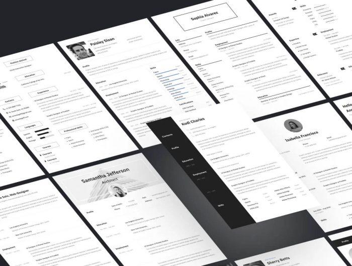 Adobe XD Resume Template Free - UI Freebies