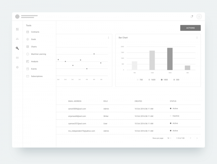 dashboard wireframe sketch 1 - UI Freebies