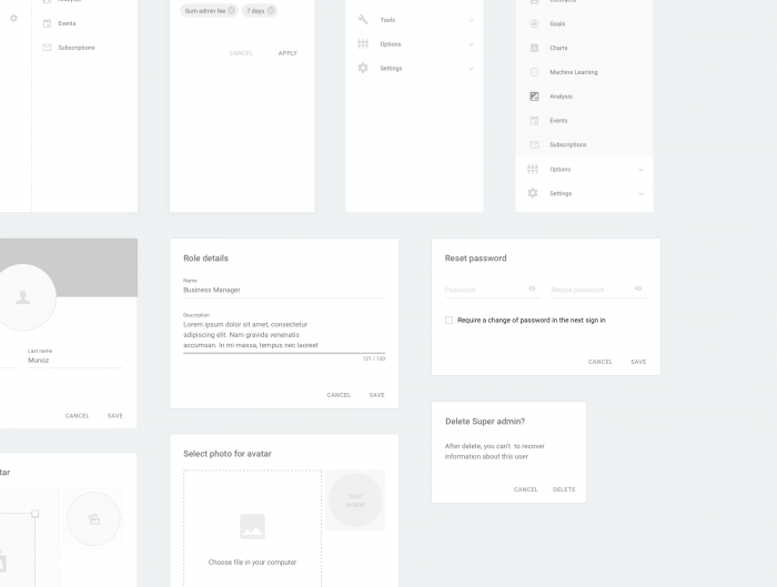 dashboard wireframe sketch 4 - UI Freebies