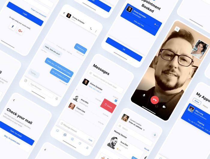 doctor mobile app design free 2 - UI Freebies