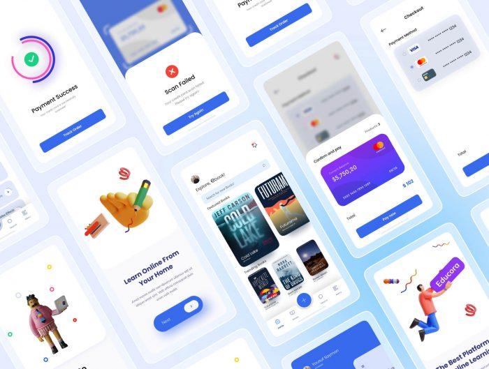 E-Learning UI Kit Free - UI Freebies